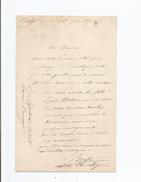 HUGUES BOUFFE (PARIS 1800 PARIS 1888) ACTEUR ET DRAMTURGE FRANCAIS LETTRE A SIGNATURE 1870 - Autographs