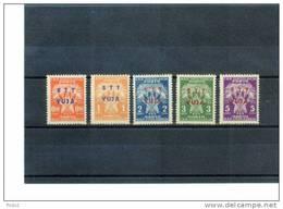 Triest Zone B (STT-VUJA) 1949 Portomarken / Postage Due Set Michel 1 - 5 Postfrisch / MNH - Ungebraucht