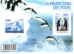 France.bloc Feuillet F4350 De 2009.la Protection Des Poles.n**. - Neufs
