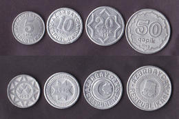 Azerbaijan 4 Coins Set 1992-1993