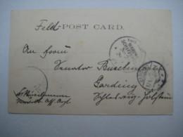 1901 , Feldpost Boxeraufstand , Marineschiffpoststempel  Nr. 26  , Karte Aus Kandy - Deutschland