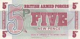 GRAN BRETAGNA BRITISH ARMED FORCES 5 NEW PENCE 6th SERIES FDS - Forze Armate Britanniche & Docuementi Speciali