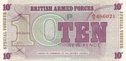 GRAN BRETAGNA BRITISH ARMED FORCES 10 NEW PENCE 6th SERIES FDS - Forze Armate Britanniche & Docuementi Speciali