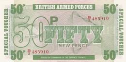 GRAN BRETAGNA BRITISH ARMED FORCES 50 NEW PENCE 6th SERIES FDS - Forze Armate Britanniche & Docuementi Speciali
