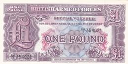 GRAN BRETAGNA BRITISH ARMED FORCES 1 POUND  2th SERIES FDS - Forze Armate Britanniche & Docuementi Speciali