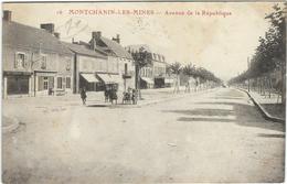 Saone Et Loire : Montchanin Les Mines, Avenue De La République - Francia