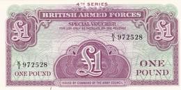 GRAN BRETAGNA BRITISH ARMED FORCES 1 POUND  4th SERIES FDS - Forze Armate Britanniche & Docuementi Speciali