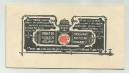 Manganio Mastice Di Manganese Societa' E. Reinach Milano - Publicités