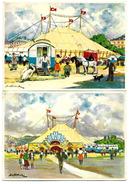 Cirque - Lot De 2 Cartes - CIRCUS PILATUS - N° 1 Et 2 - Ménagerie Entrée Des Artistes - Entrée Principale - Zirkus