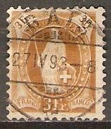 SUISSE    -   1882.  Y&T N° 80 Oblitéré.   Cote 22 € - Oblitérés