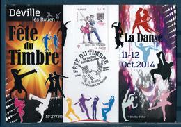 0169 - 76 DEVILLE LES ROUEN - Bureau Temporaire Du 11-10-2016. Fête Du Timbre, La Danse. - Commemorative Postmarks
