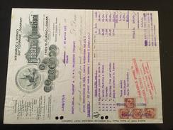 28-4-1925-MURANO-FATTURA DITTA GIOACCHINI VENEZIANI-VERNICI SOTTOMARINE-VALORI FISCALI - Italia