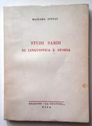 """1958 SARDEGNA LINGUISTICA STORIA NUORO PITTAU  PITTAU MASSIMO STUDI SARDI DI LINGUISTICA E STORIA Pisa, Edizioni """" - Libri, Riviste, Fumetti"""