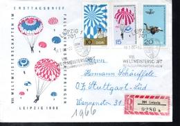 DDR   Lettre Recommandée  Parachutisme