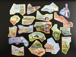 Lot De 19 Magnets Le Gaulois Très Bon état + Petit Cadeau - Tourisme