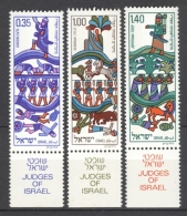 ISRAEL 1975: YT 584 - 586 / Sc 573 - 575 / Mi 649 - 651, ** MNH - FREE SHIPPING ABOVE 10 EURO - Neufs (avec Tabs)