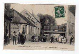 Jan17    8978325   Pont Sur Yonne  Le Pont Du Chemin De Fer Rue De La Gare - Pont Sur Yonne