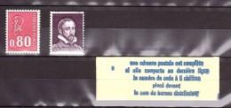 Palissy - Pa26 (violet) Et Carnet Pa26c Fermé - Pub Code Postal - Essai Pour Marianne De Béquet (1816) - Neufs ** - Proofs
