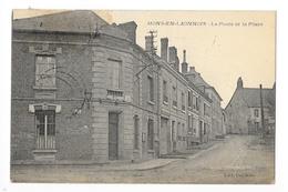 MONS-en-LAONNOIS  (cpa 77)  La Poste Et La Place -    - L 1 - France