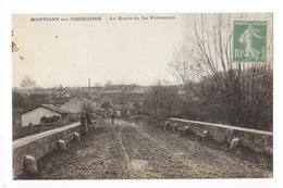 MONTIGNY-sur- VINGEANNE  (cpa 21)  La Route De La Villeneuve -    - L 1 - Francia