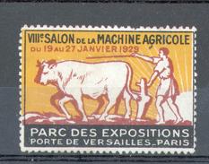 VIGNETTE DU VIIIème SALON DE LA MACHINE AGRICOLE DU 19 AU 27 JANVIER 1929 - Erinnophilie