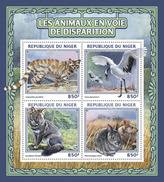 NIGER 2016 - Endangered Animals, Rabbits. Official Issue