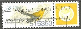 Sc. # 2285a Endangered Species, Protonotary Warbler, Ex. Souvenier Sheet Single Used 2008 K1091 - 1952-.... Règne D'Elizabeth II