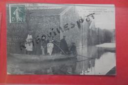 Cp Billancourt Inondations Rue De L'ile Usine Renault Animé N 30 - Inondations De 1910