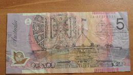 1992/95 ND - Australie - Australia - FIVE DOLLARS, ELIZABETH II, EA 97 779 331 - Dezimale Regierungsausgaben 1966-...