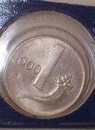 Repubblica Italiana 1 Lira 2000 RARA - FDC - UNC - 1 Lira