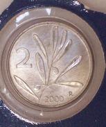 Repubblica Italiana 2 Lire 2000 RARA - FDC - UNC - 2 Lire