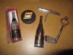 Lot De 5 Décapsuleurs Champagne R. Bauser Capsule Nuit Tonic Club De Golf Laguiole - Tire-Bouchons/Décapsuleurs