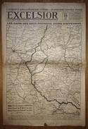 Excelsior 2821 10/08/1918 D'Annunzio Survole Vienne - Les Gains Des Deux Premiers Jours D'offensive (carte Du Front) - Sonstige