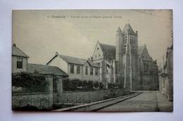 60 - Carte Couleur Vert  CHAMBLY - Rue Des écoles Et L'église Prise De L'Esche - Autres Communes