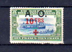 Croix-Rouge, Congo Belge Surchargé, 44 *(gomme Abimée), Cote 110 € - 1916-22: Neufs
