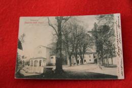 Presso Cuneo Il Santuario Degli Angeli 1901 Inviata A Venasca - Andere Städte