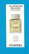 Cartes Parfumées Carte ÉGOÏSTE PLATINUM POUR HOMME De CHANEL - Perfume Cards