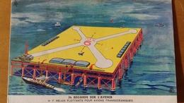ANTICIPATION 1930 FRANCE - BYRRH # 7 - AIRPORT PLATFORM - SCI FI - Utopia -  Anticipation - Trade Cards