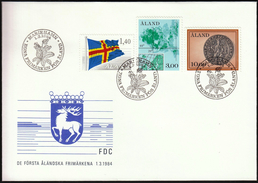 Aland 1984 / Flag / Map / Old Coin / Coat Of Arms