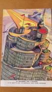 ANTICIPATION 1930 FRANCE - BYRRH # 15 - SKYSCRAPER WITH AIRPORT - SCI FI - Utopia -  Anticipation - Chromo