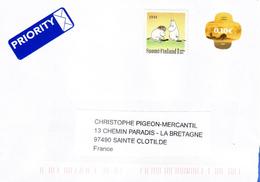 FINLANDE - Enveloppe Ayant Circulée Fin.2016 Avec L'île De La REUNION - ABSENCE De Trace De Tampon Postal - Covers & Documents