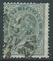 1863-65 REGNO USATO EFFIGIE 5 CENT TIRATURA TORINO - S16-2 - Usati