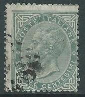 1863-65 REGNO USATO EFFIGIE 5 CENT TIRATURA TORINO - S16-5 - Usati