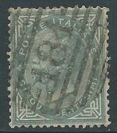 1863-65 REGNO USATO EFFIGIE 5 CENT TIRATURA TORINO - S16-7 - Usati