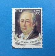 2001 ITALIA FRANCOBOLLO USATO STAMP USED - TEATRO E MELODRAMMA CIMAROSA - - 6. 1946-.. Repubblica