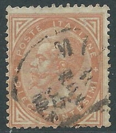 1863-65 REGNO USATO EFFIGIE 10 CENT TIRATURA TORINO - S17-5 - Usati