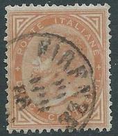 1863-65 REGNO USATO EFFIGIE 10 CENT TIRATURA TORINO - S17-8 - Usati