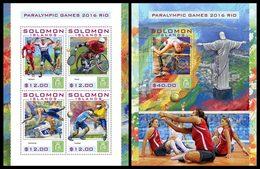 SOLOMON Isl. 2016 - Rio Paralympics. M/S + S/S - Handisport
