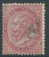 1863-65 REGNO USATO EFFIGIE 40 CENT TIRATURA TORINO - S20-12 - 1861-78 Vittorio Emanuele II