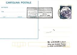 ITALIE- CARTE ENTIER POSTAL XXXIII CONCORSO POLIFONICO INTERNAZIONALE GUIDO D'AREZZO 20/25 AGOSTO 1985 - Italië